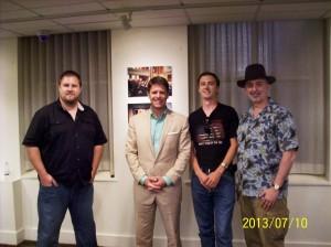 Authors Ian Graham, Brad Thor, Stephen England, and Robert Bidinotto
