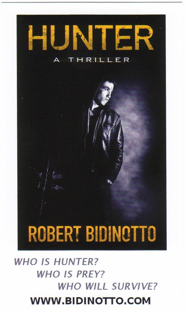 Authors using business cards to build sales robert bidinotto hunter card front reheart Images