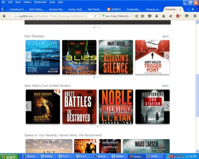 Ad strip on Audible home page 5-13-16