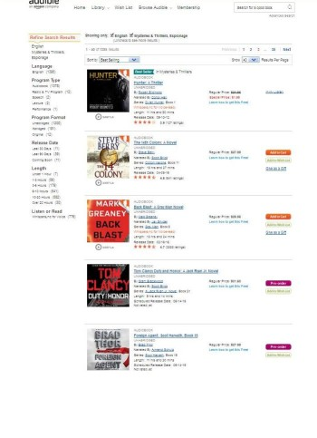 "HUNTER atop Audible ""Espionage Thriller"" list"